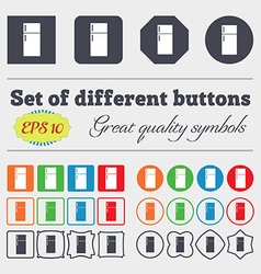 Refrigerator icon sign Big set of colorful diverse vector image vector image