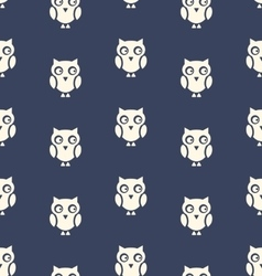Seamless Pattern with Bird Owl for Halloween vector image
