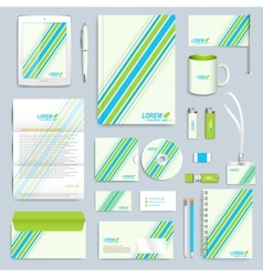 Set of corporate identity template Modern vector image
