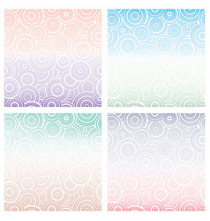 Set of seamless pattern with white circles of vector