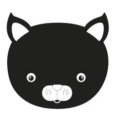 sketch silhouette monochrome caricature face cat vector image vector image