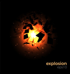 Space geometric explosion vector