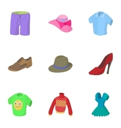 Underwear icons set cartoon style vector
