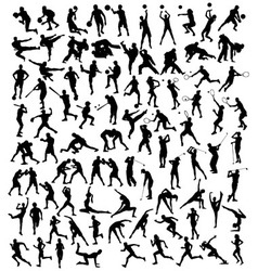 Various Silhouette Sports Activities vector image