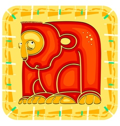 Year of the Monkey Chinese horoscope animal sign vector image vector image
