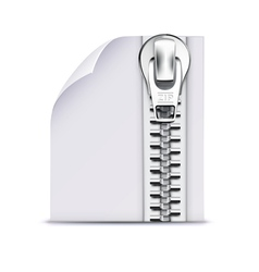 Zip file icon vector