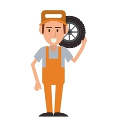 Repairman worker proffesional design vector