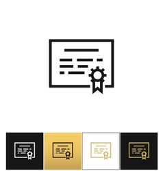 Certificate or seal document icon vector