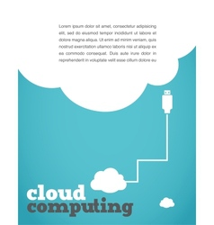 Vintage style cloud computing poster vector