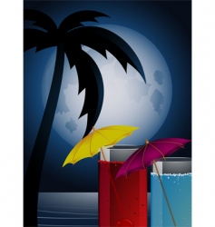 moonlight cocktails vector image
