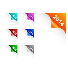 Paper corners 2014 vector image