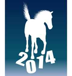 New year horse 2014 vector