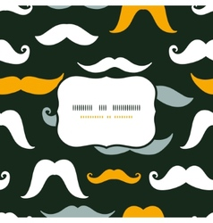 Fun silhouette mustaches frame seamless pattern vector