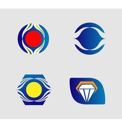 Collection of creative and abstract icon logo desi vector