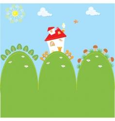cartoon home vector image