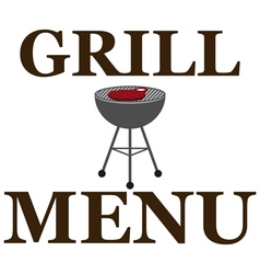 Design grill menu with barbecue vector