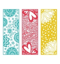 Floral banners zentangle vector