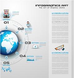 Info circles vector image