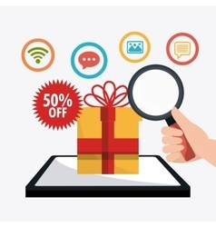 Shopping ecommerce and marketing vector
