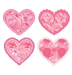 Design elements for wedding or Valentines Day vector image