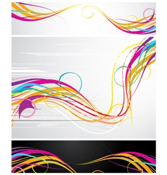 colour abstraction from lines vector image