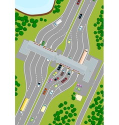 Highway toll vector