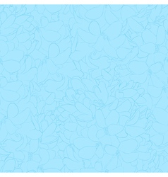 Seamless background with blue flowers vector