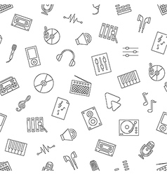 Music pattern black icons vector