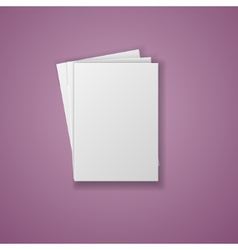 A4 paper sheet isolated on white background vector
