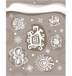 Abstract snow vector