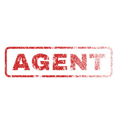 agent rubber stamp vector image