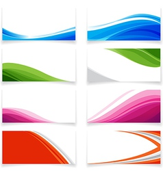 Banner Curve style 0001 vector image vector image
