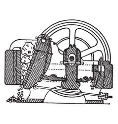 Blake ore breaker vintage vector