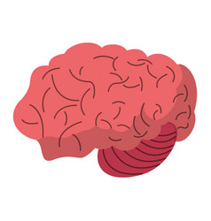 Brain human process idea vector