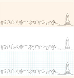 Cape canaveral hand drawn skyline vector