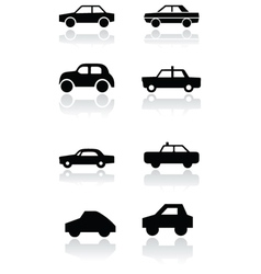 car symbol set vector image vector image