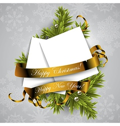 Christmas wreath design vector image vector image