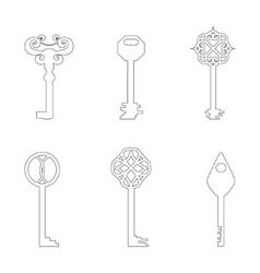 Contour Keys vector image vector image