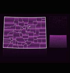 counties of colorado vector image