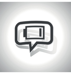 Curved low energy message icon vector