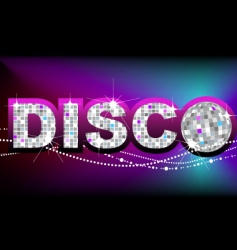 Disco ball party poster template vector