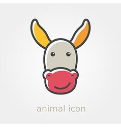 Donkey icon Farm animal vector image vector image
