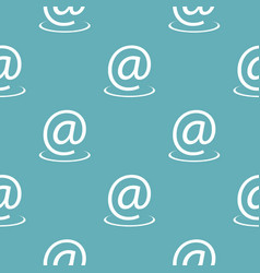 email address pattern seamless blue vector image