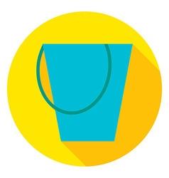Garden Tool Bucket Circle Icon vector image vector image