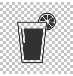 Glass of juice icons dark gray icon on vector