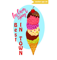 Ice cream tower vector