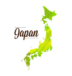 isolated japanese map vector image