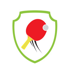 Isolated ping pong emblem vector