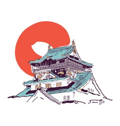 japanese house vector image