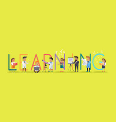 learning banner educational concept laboratory vector image
